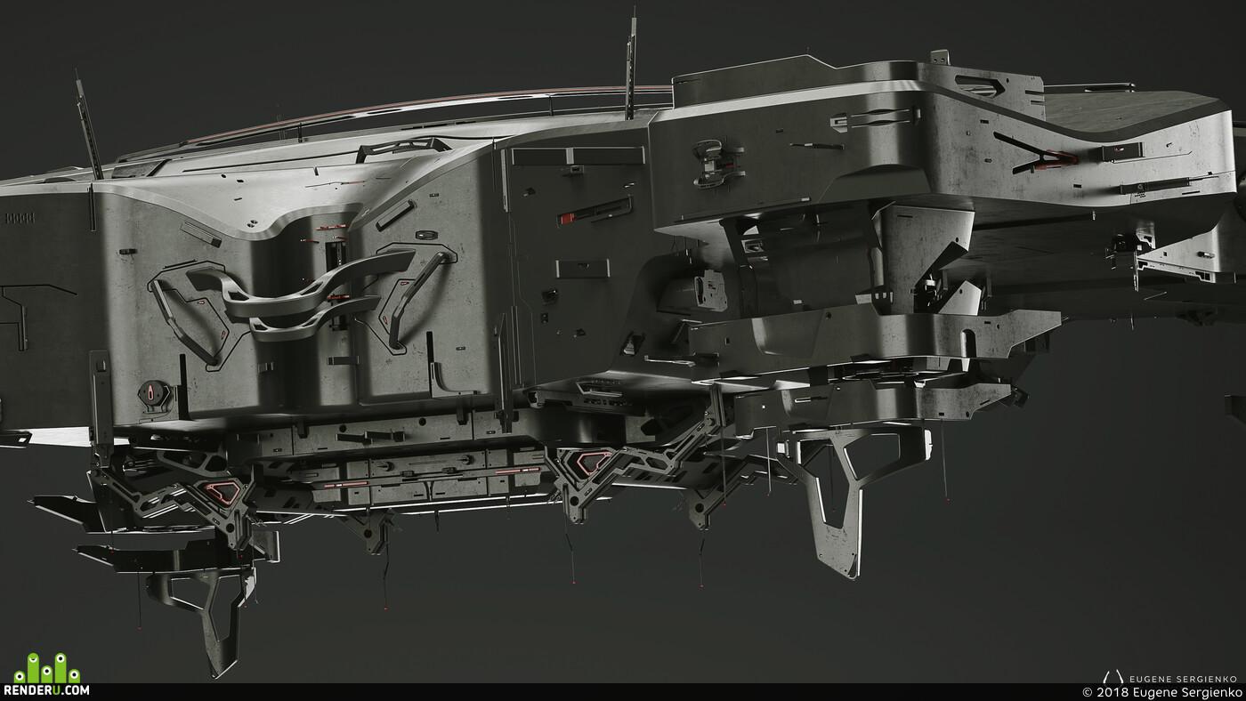 Blender, moi3d, CAD системы, design, sci-fi, station