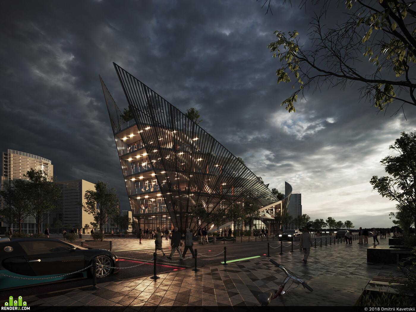 3D архитектура, архитектура, Визуализация