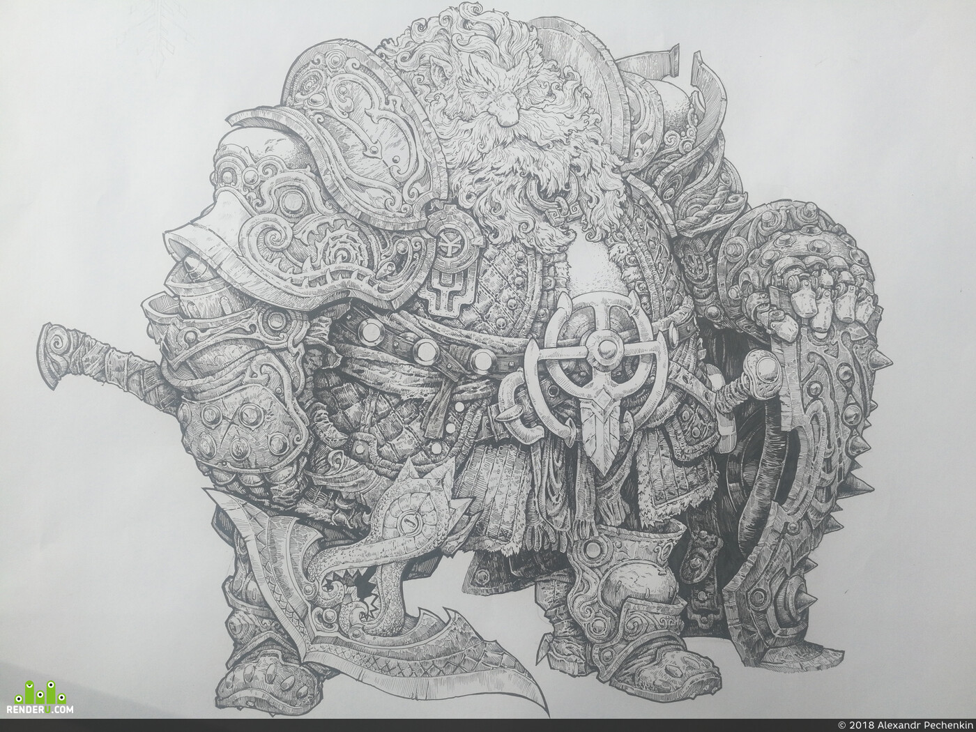 Littledruid, Картун (Cartoon), #ConceptartistRPG, concept-art, inktober
