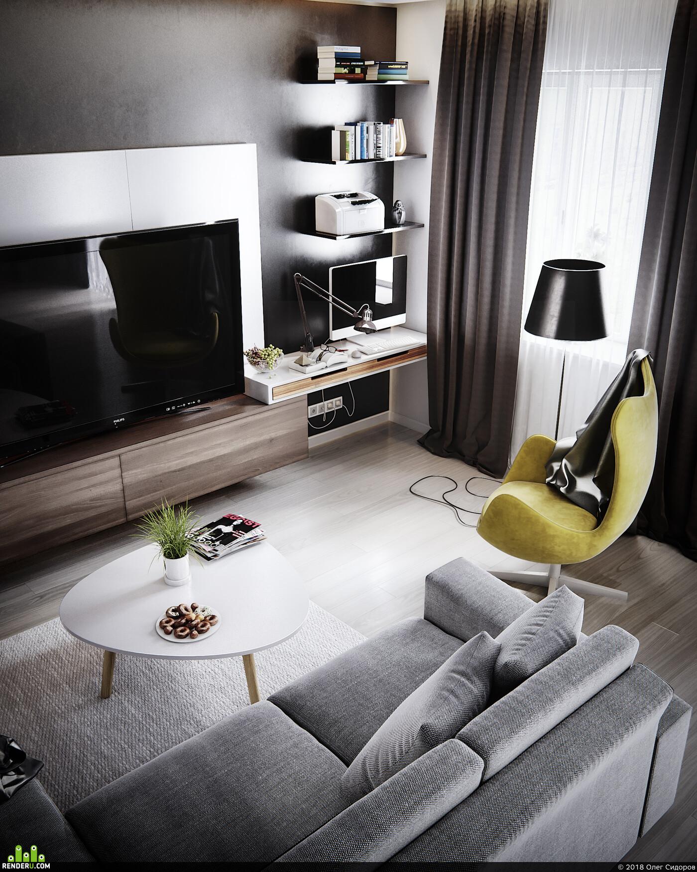 coronarenderer, 3Dsmax, Photoshop, home
