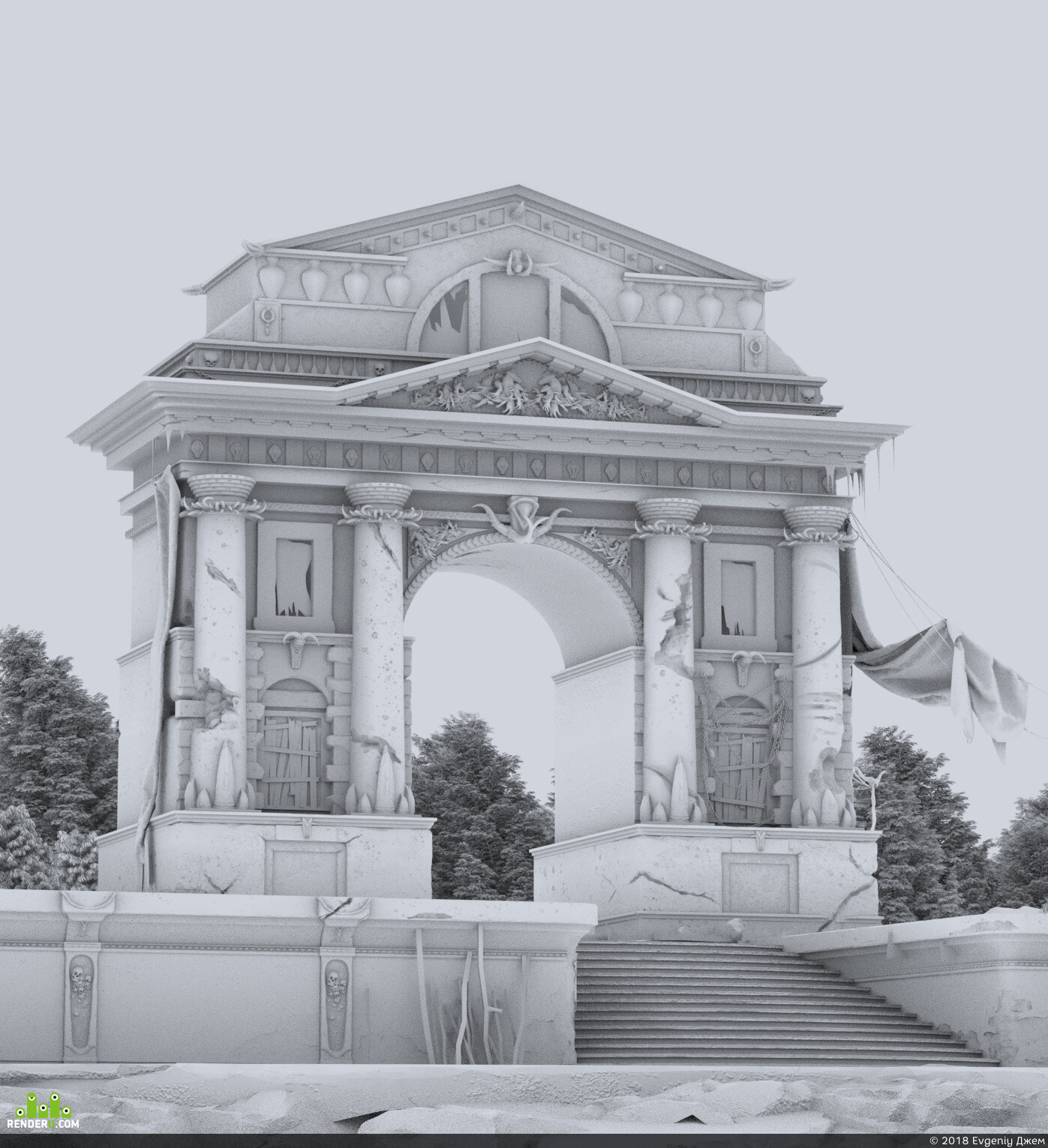 архетиктура ворота