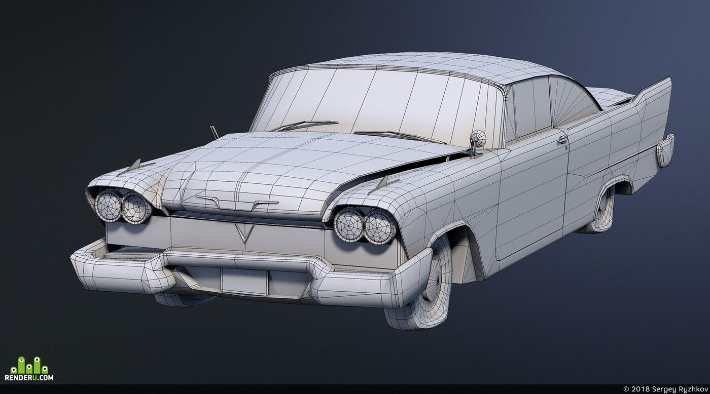 Авто / мото, low poly, low-poly, lowpoly, cars, 3d, 3D Studio Max, 3ds Max, транспорт