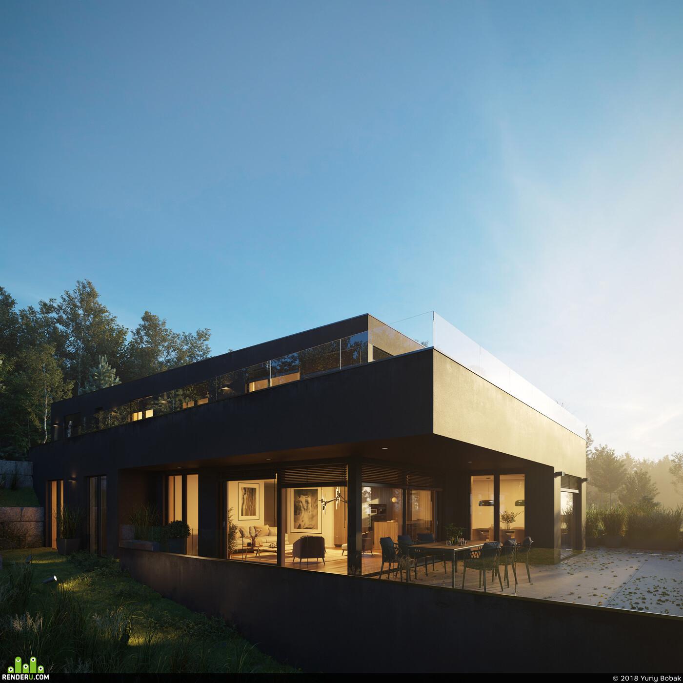 residential, building, house, switzerland, interior design