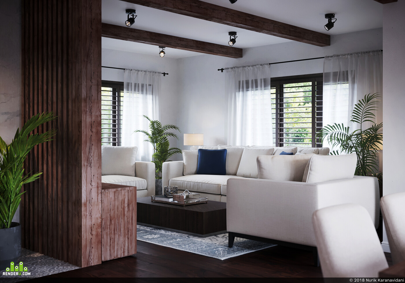 3ds Max, coronarenderer, interier, interiordesign, Adobe Photoshop, CG