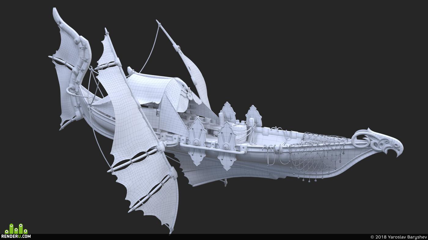 ship, Flyship