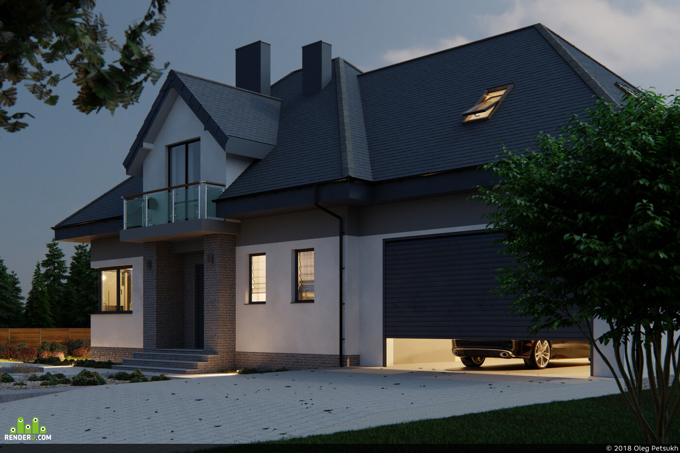 3д визуализация, коронарендер, фотошоп, фанарт, архитектурная визуализация, 3D архитектура
