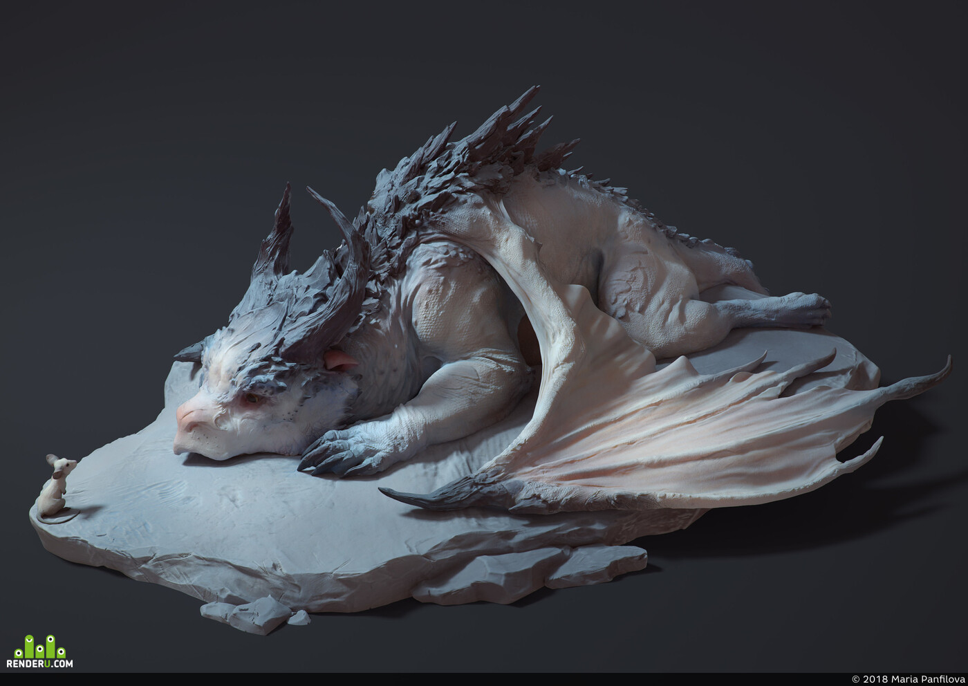 dragon, Mouse, fantasy, sculpture, China