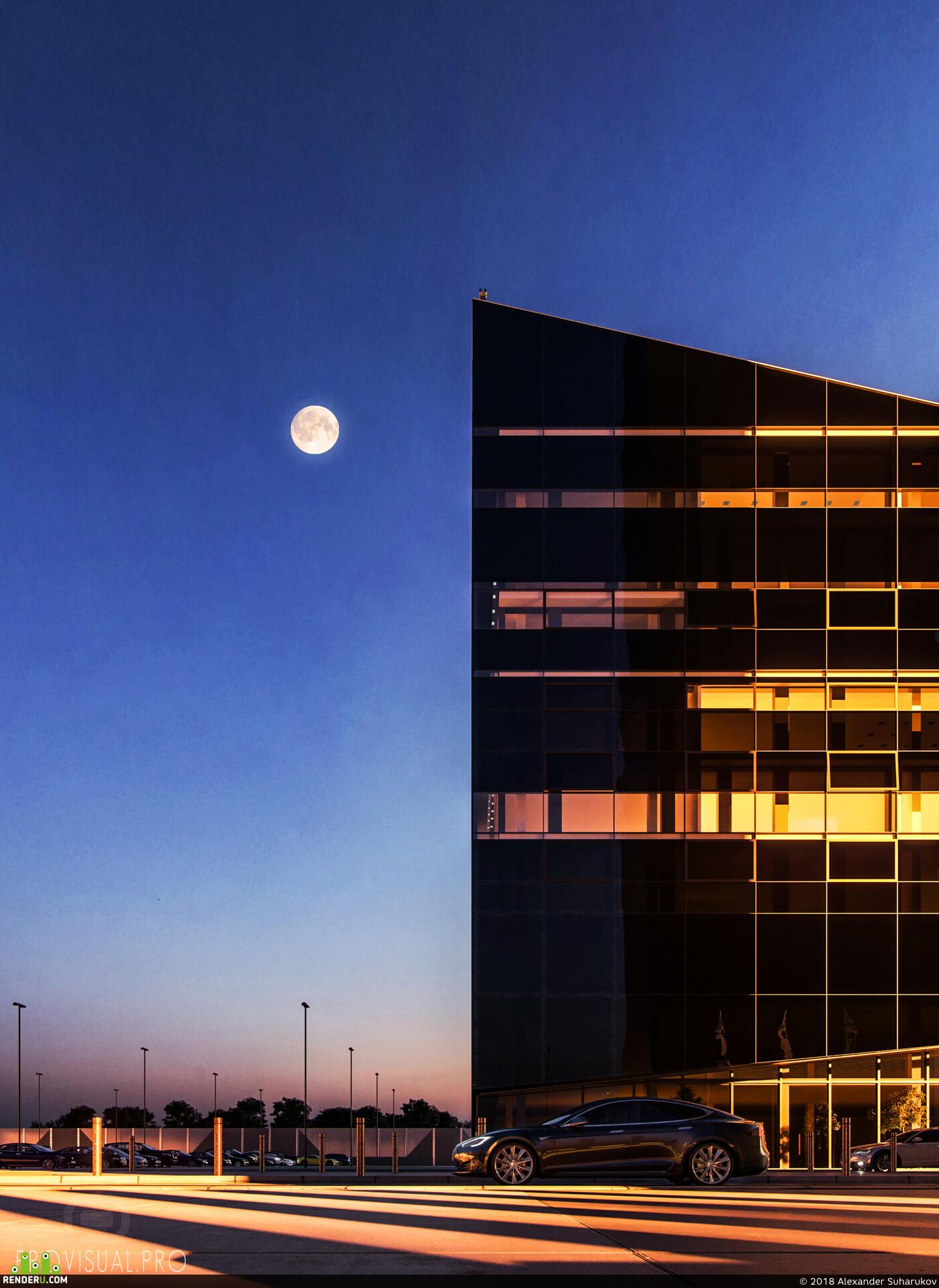 отель, corona, Экстерьер, закат, гостиница, архвиз, Визуализация, архитектурная визуализация, визуализация, архитектура, интерьер, корона