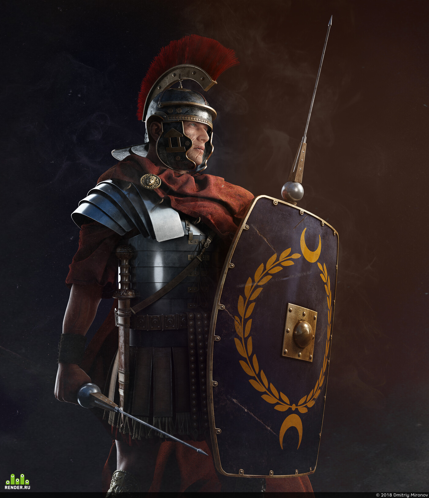 digital 3d, Characters, 3dmax, Character, Legionaries, Rome, Ancient Rome, ZBrush