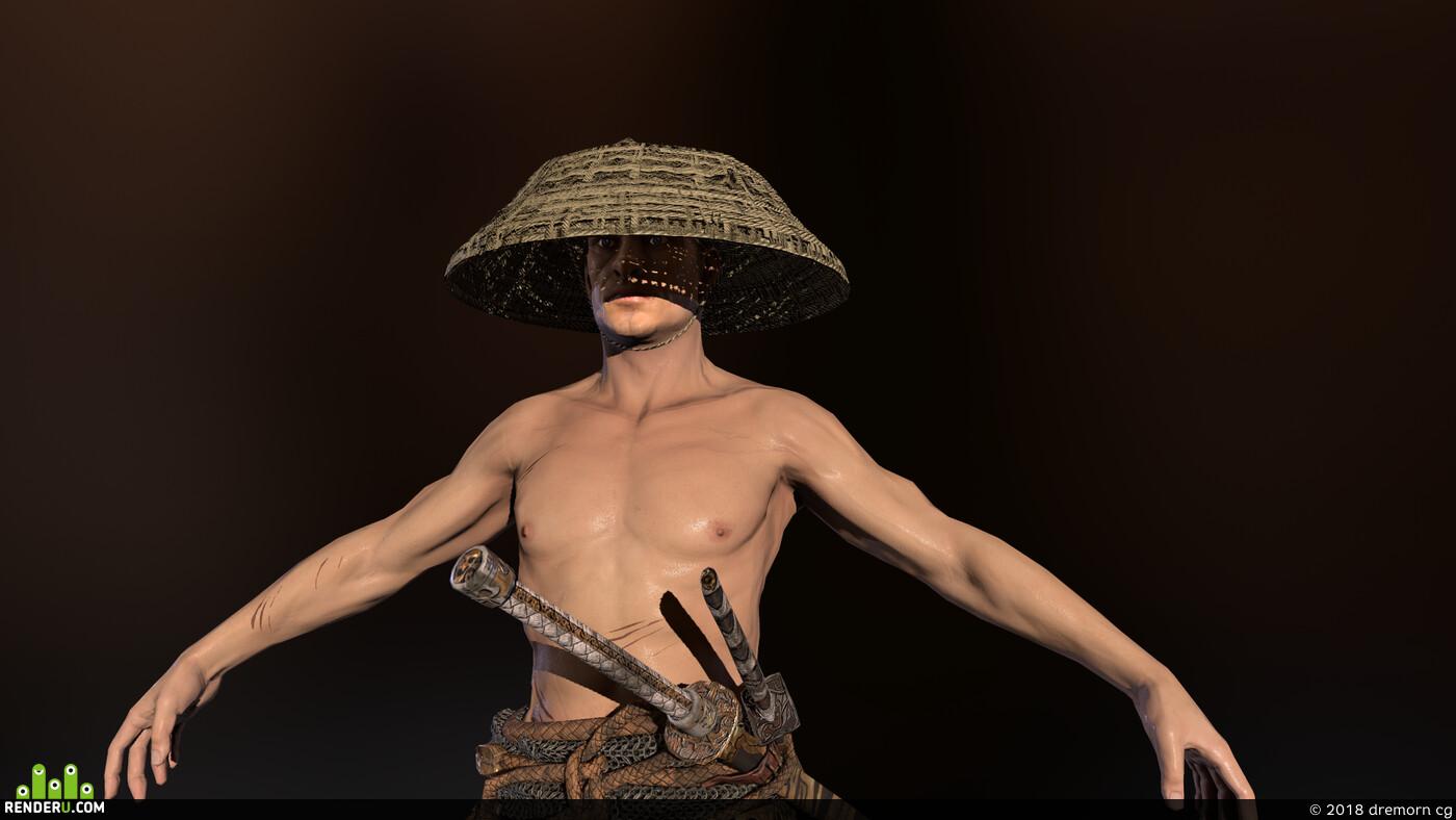 armor, Character, christ, samurai, Japan, fight, fighter, guard, helmet, man