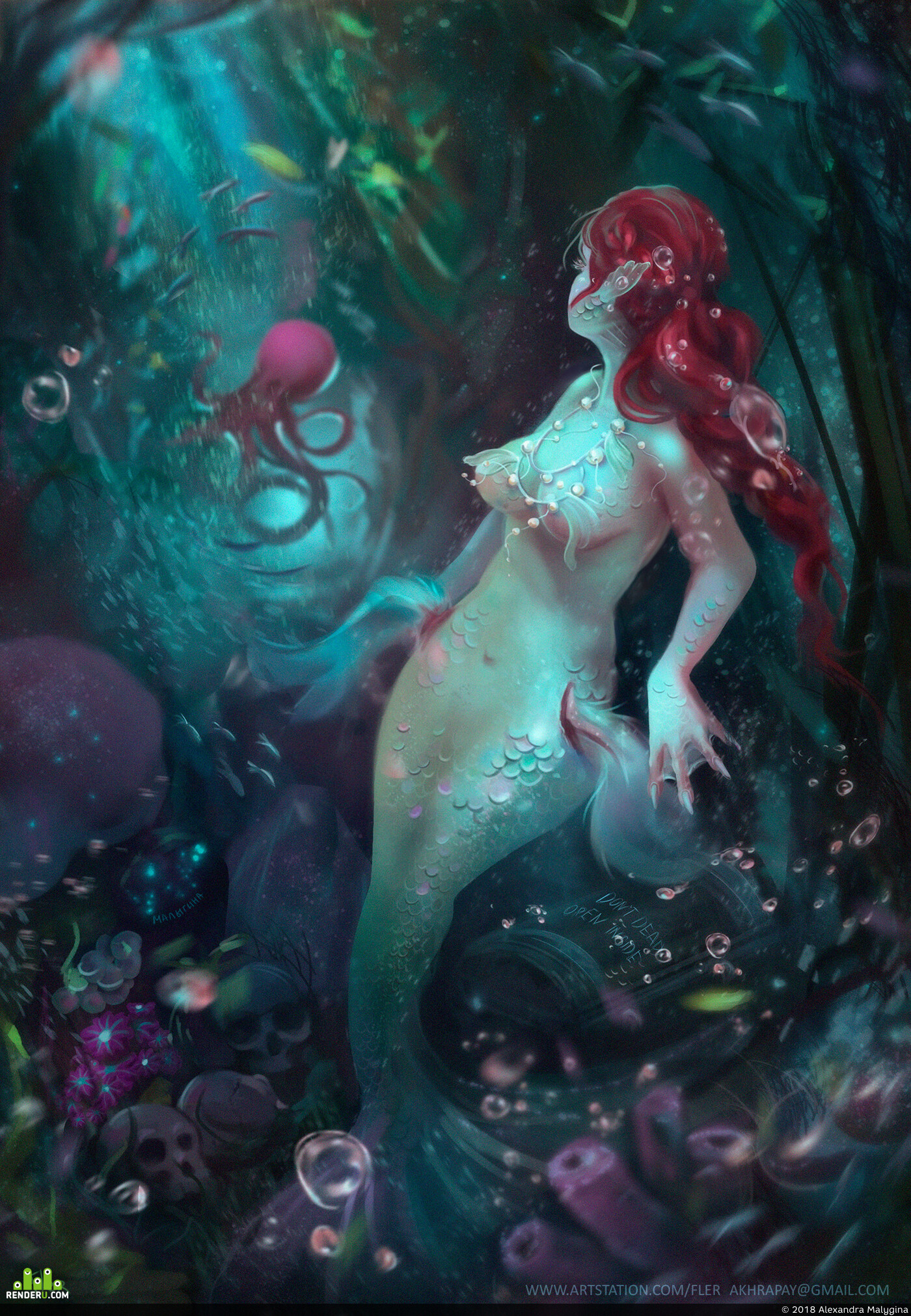 fantasy, Фэнтези, art, арт, Artwork, digitalartwork, mar, mermaid, gameart, woman