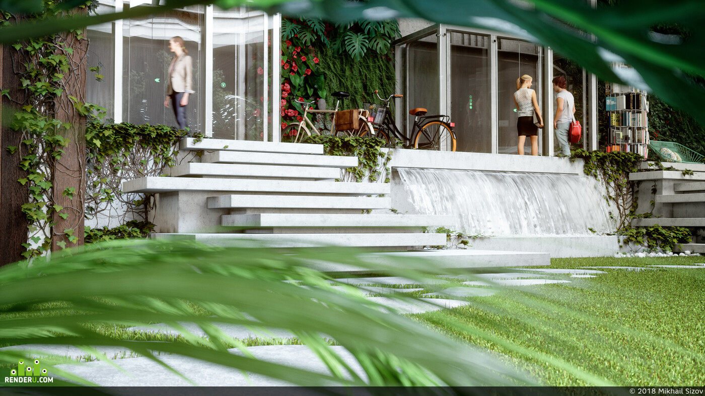 exterior., modern office, eco style, architecture, interior design, moderm interior, office, 3d artist, brand, 3d design