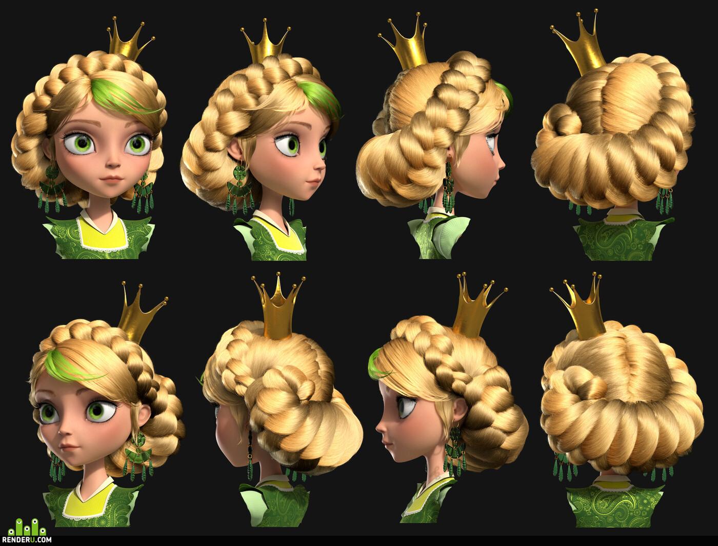 3ds max, cartoon character, characterart, characterdesign, female character, Maya