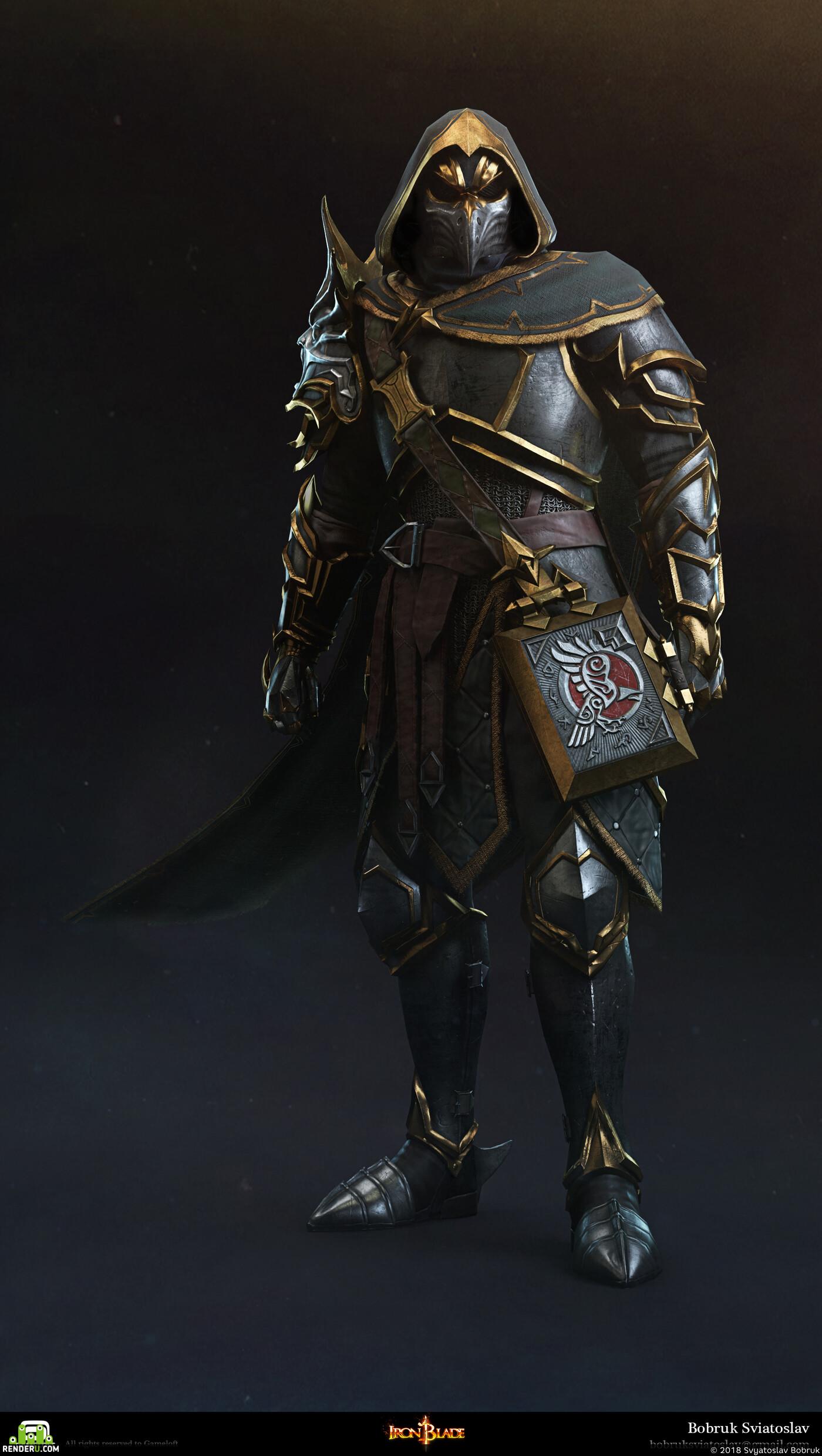 Персонаж, игровой персонаж, лоуполи
