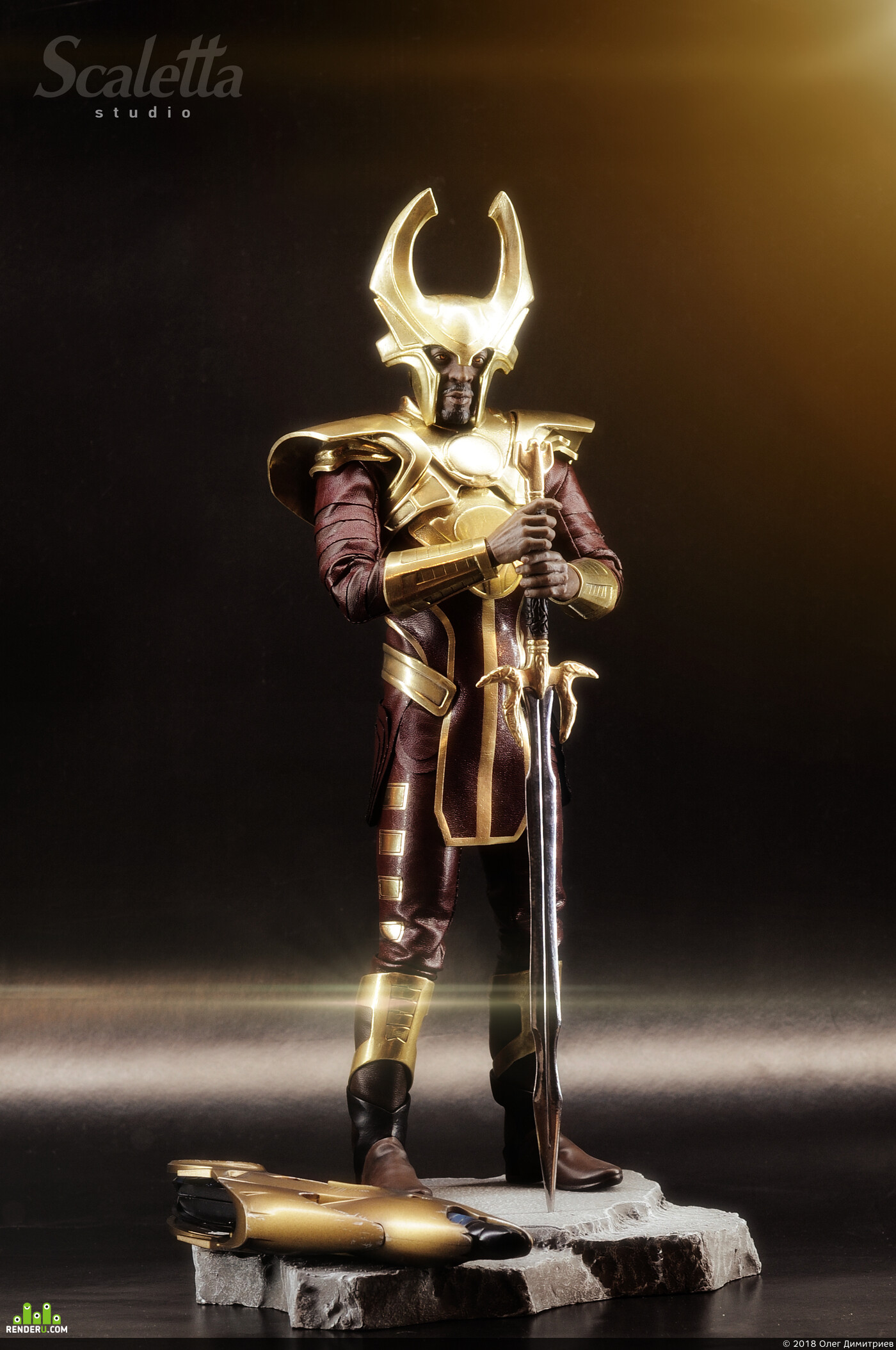 1/6scale, heimdall, ZBrush, Lightwave 3D