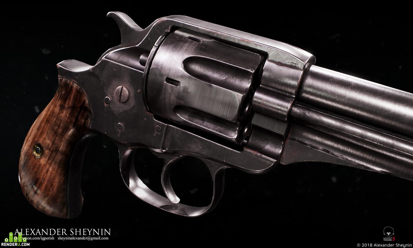 оружие, револьвер, дикий запад, кольт, винчестер, старый, износ, ржавчина, метал, материалы