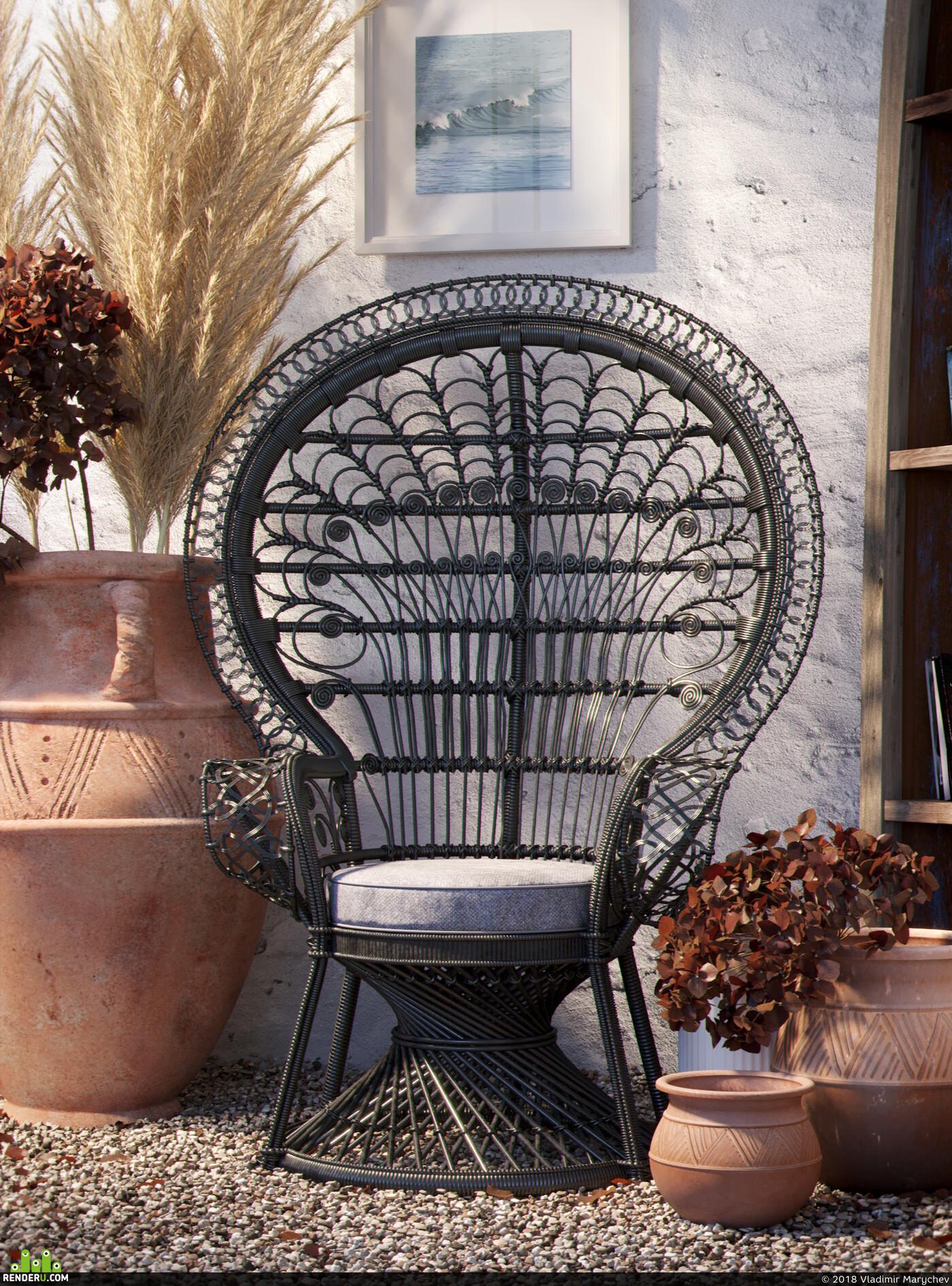 interior design, ZBrush, Marvelous designer, foliage, scatter, 3ds Max