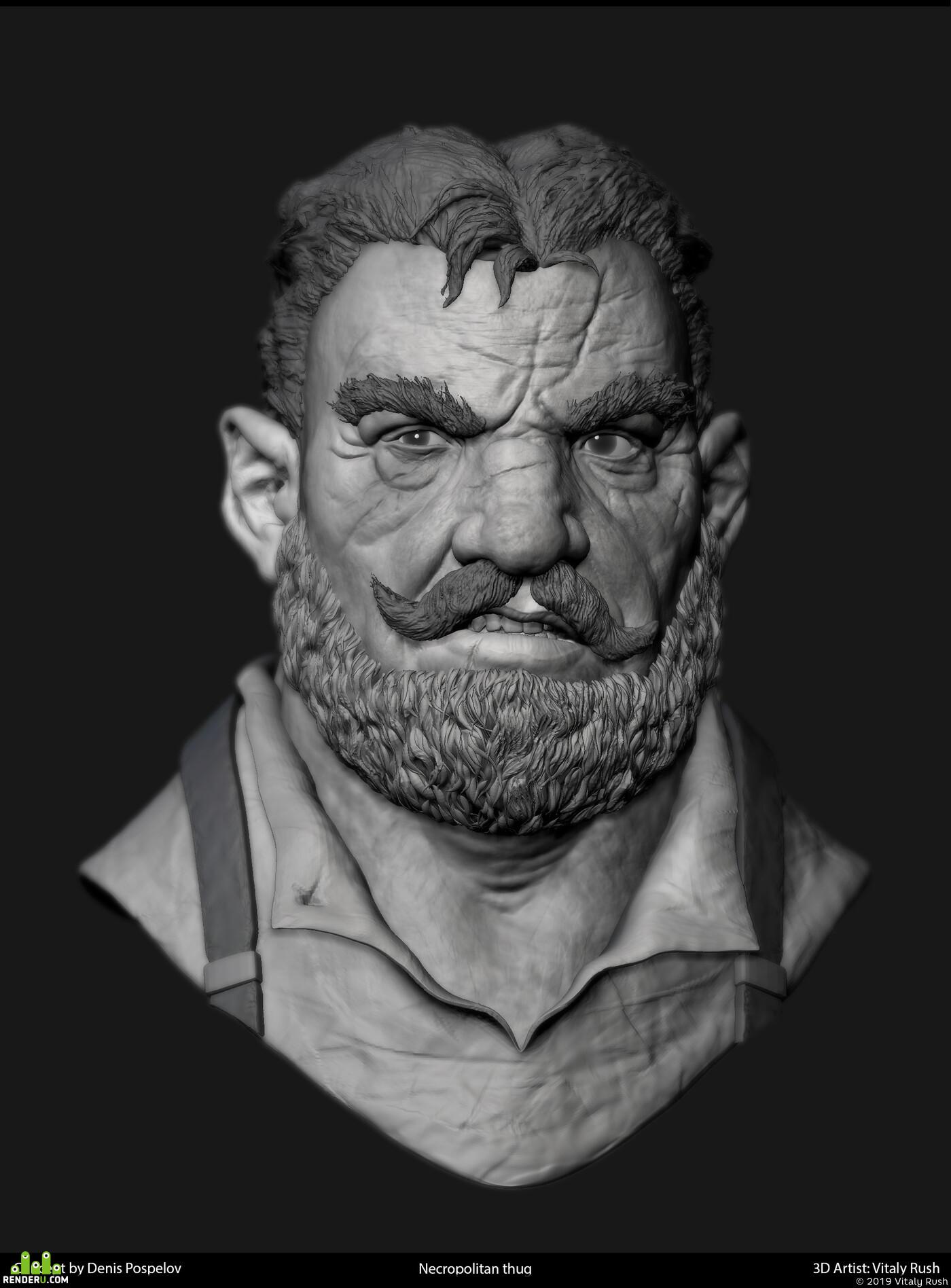 character, bust, Fantasy