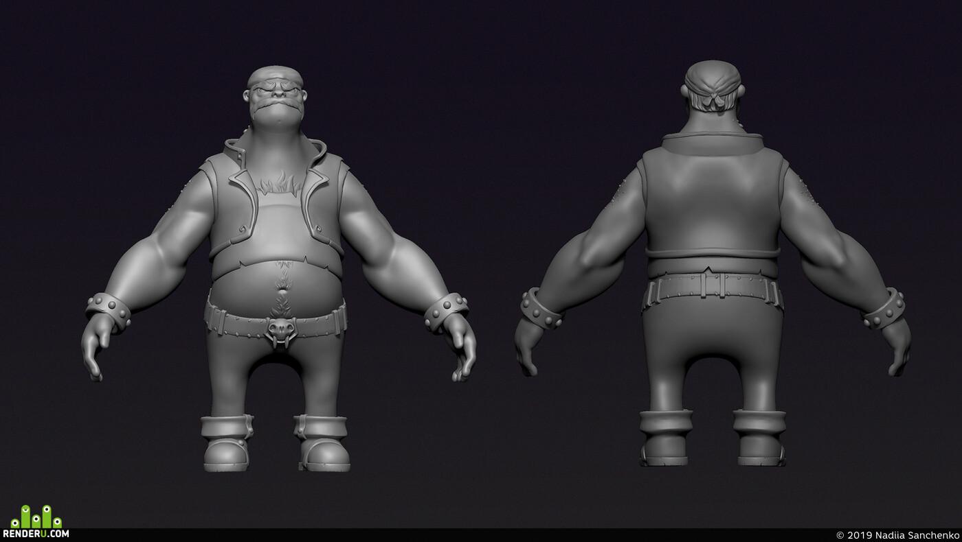 игровая модель, игровой персонаж, стилизация, 3д персонаж