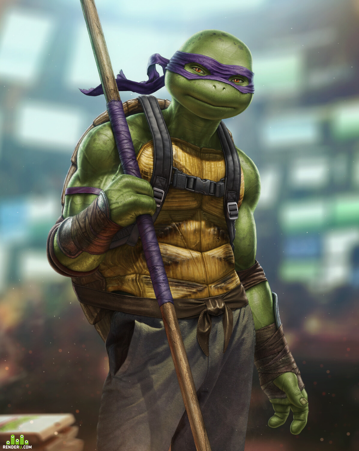 digital art, fanart, ninja, ninja turtles