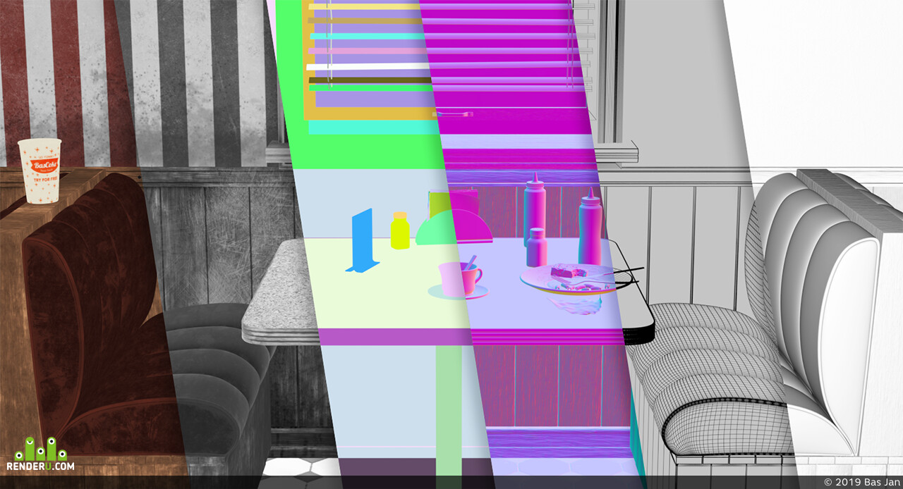 interior, 3d, интерьер, Corona Renderer, 3ds max, Визуализация