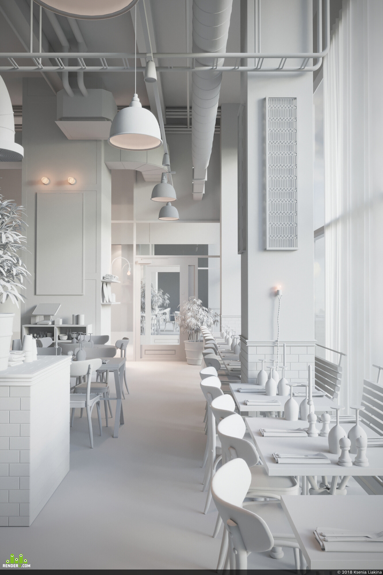 interior, scandinavian, restaurant