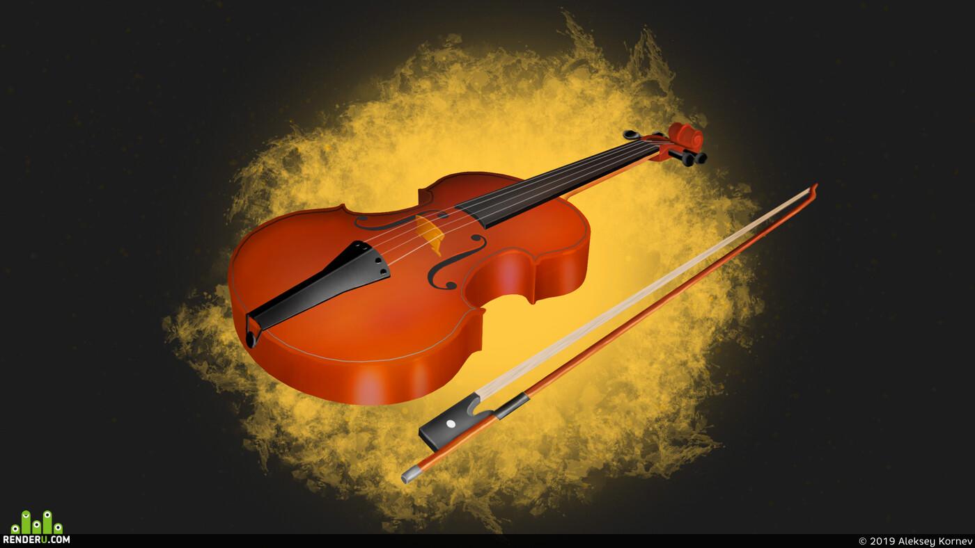 скрипка, violin, music, musical instruments