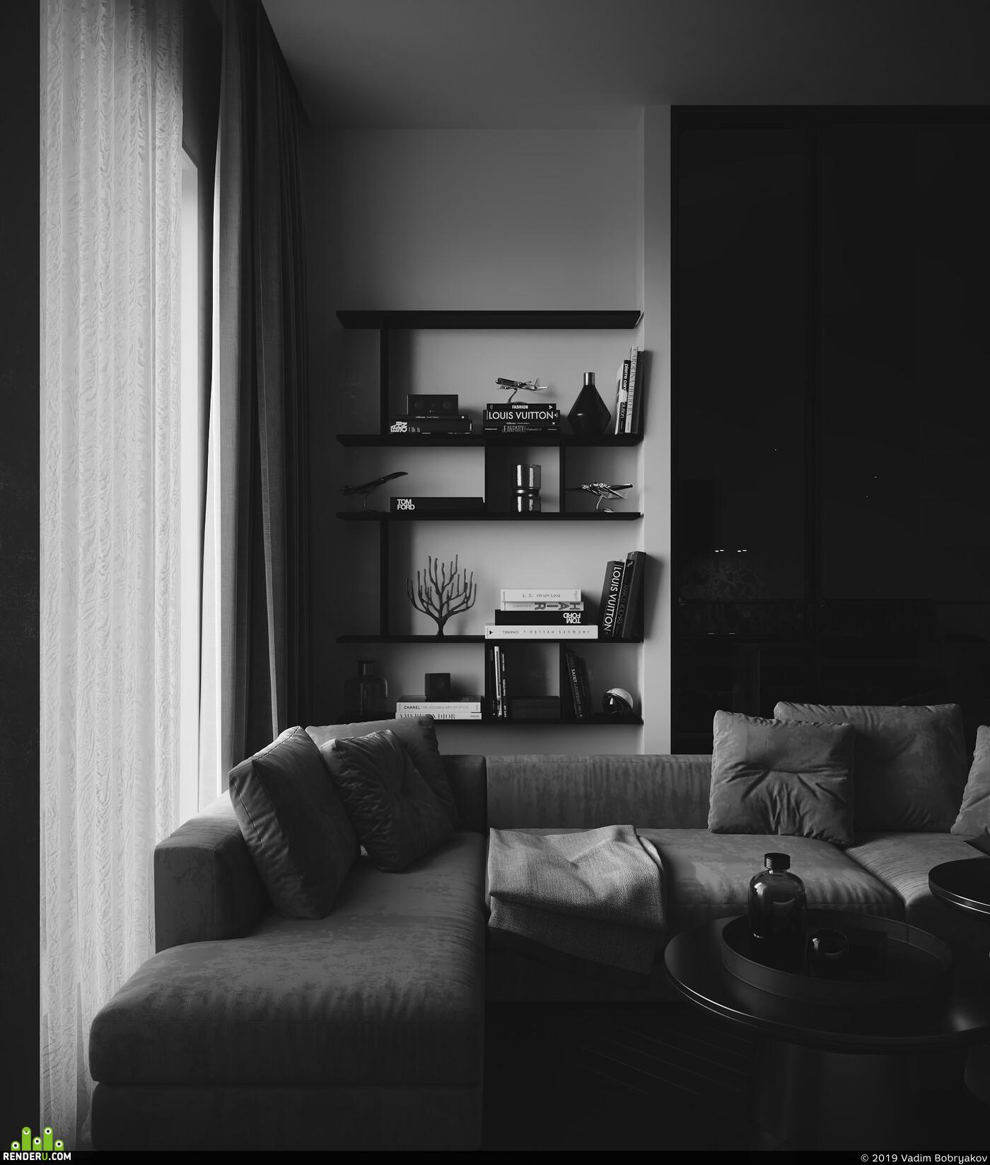 3dmax, interior design, Corona Renderer