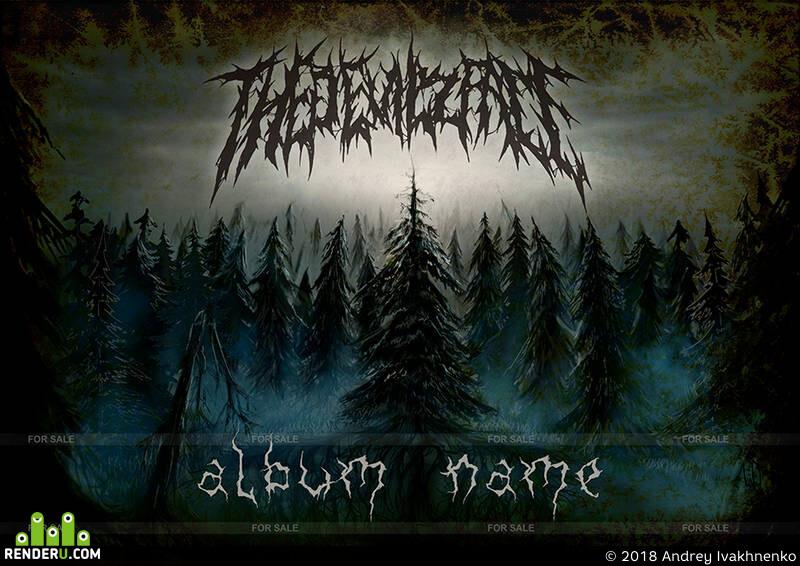 Fantasy, blackmetal, darkforest, digitalart, DIGITALDRAWING, digitalpainting, fantastic, fantasyforest, forest