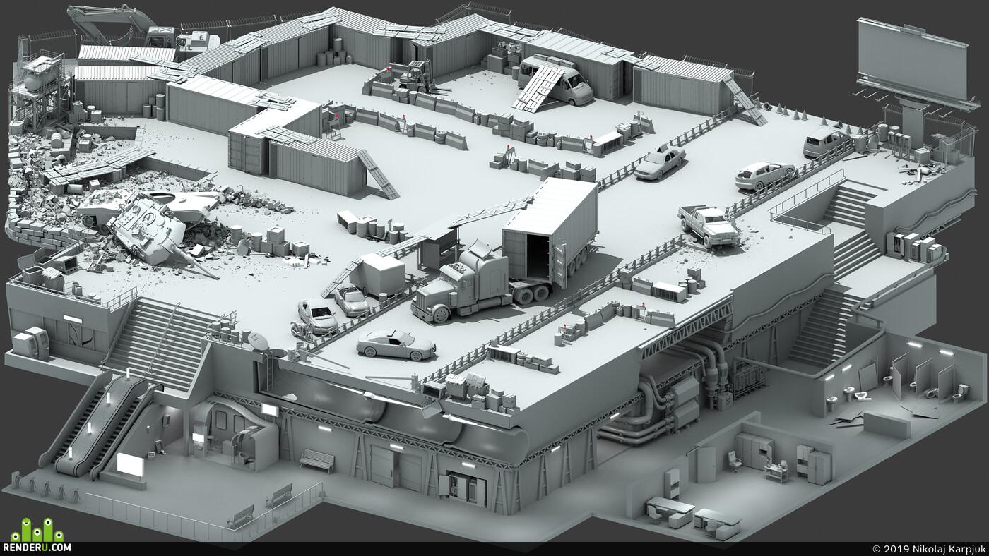 game, level, concept, 3d, 3D Studio Max