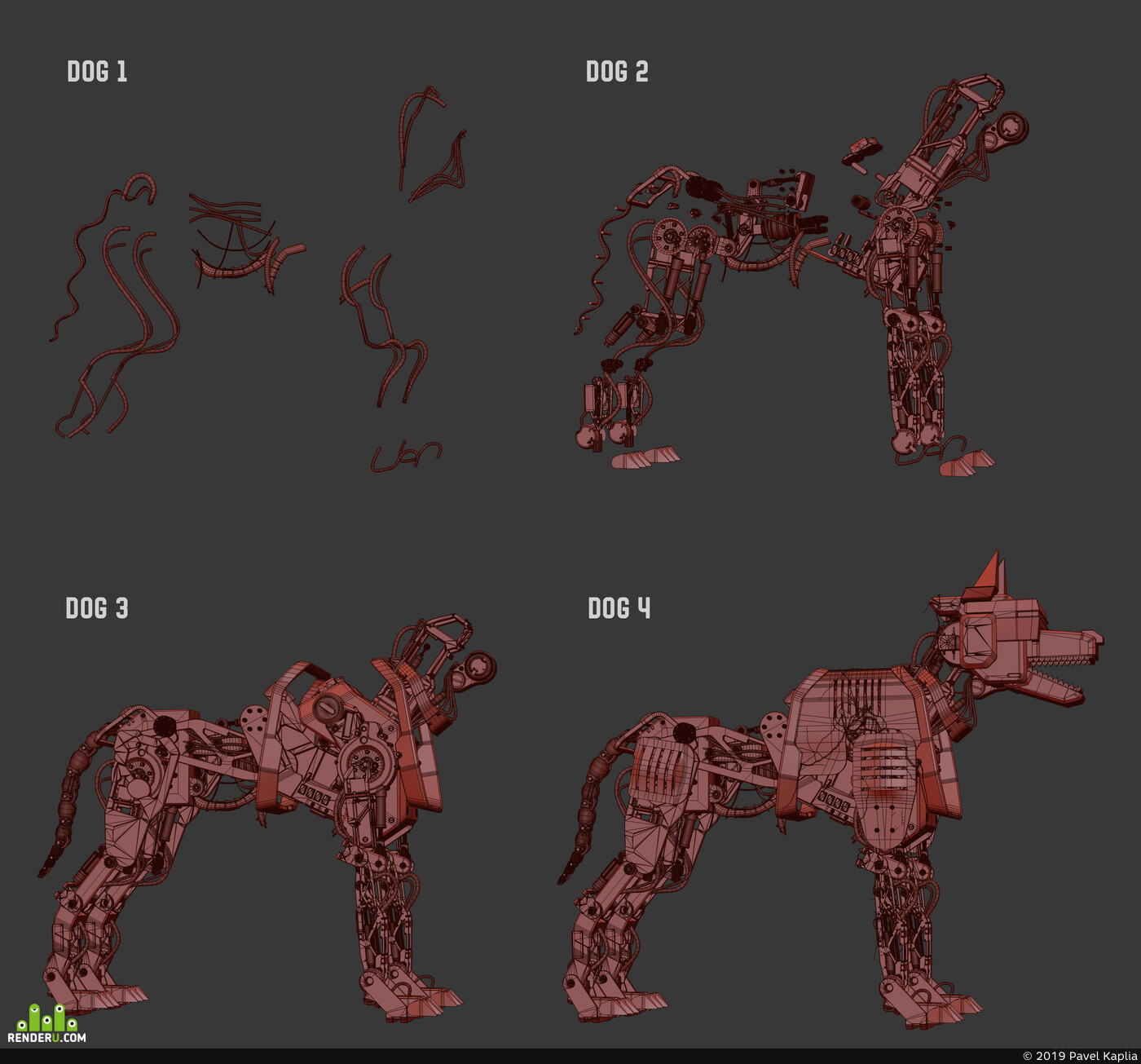 dog, Dog robot, Kaplia Pavel, Электронная собака