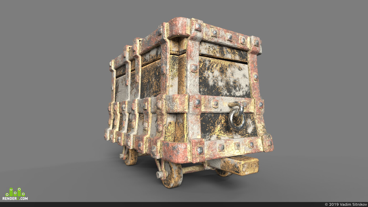 средневековье, механизмы, шахта, тележка