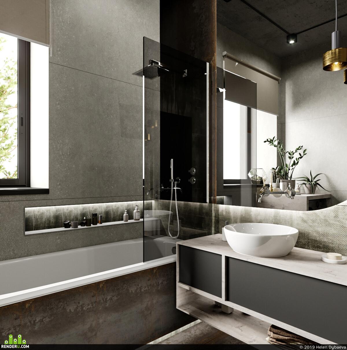 интерьер, interior interior design design 3D 3D Studio Max 3D архитектура интерьер дизайн интерьера интерьер, visualization, санузлы, санузел
