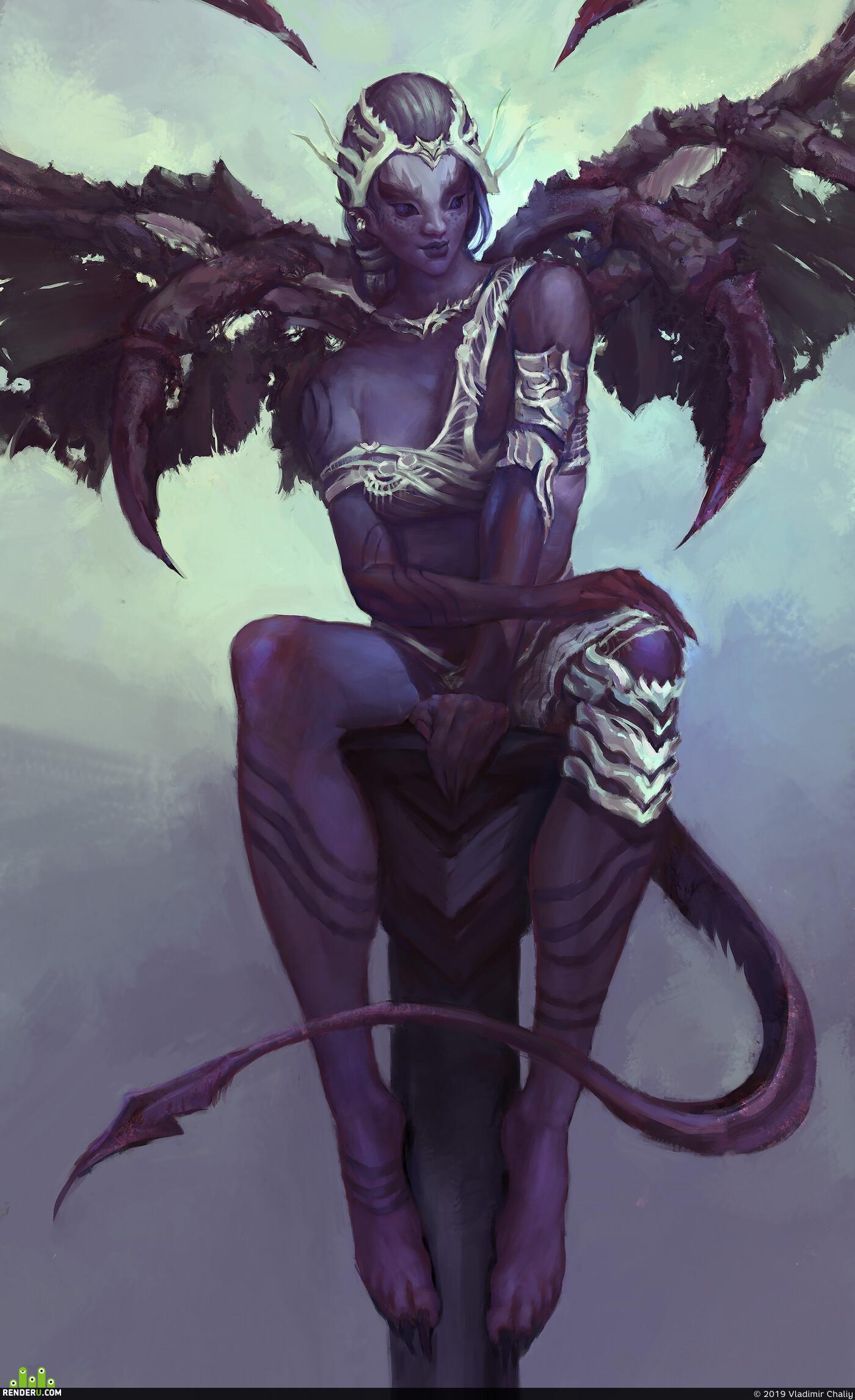 Characters, 2д арт, характер, концепт, ведьма