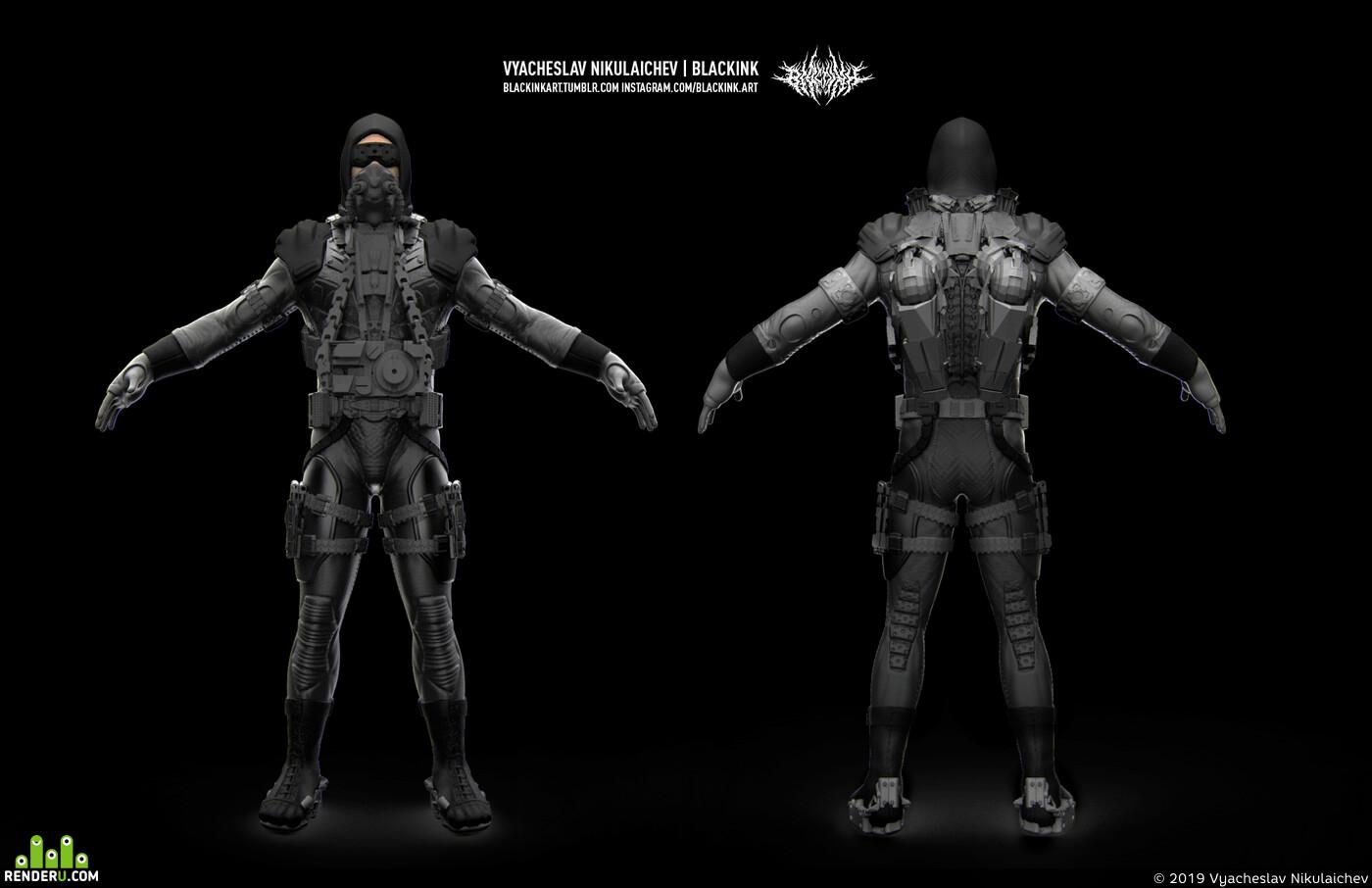 sci-fi, scifi, sci-fi armor, character, design_character, sculpting, digital sculpture, zbrushsculpt, 3d sculpt