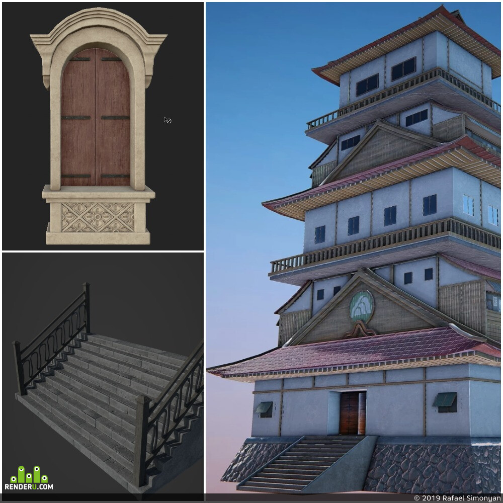 low, poly, Unity, UE, modeling, game, assets