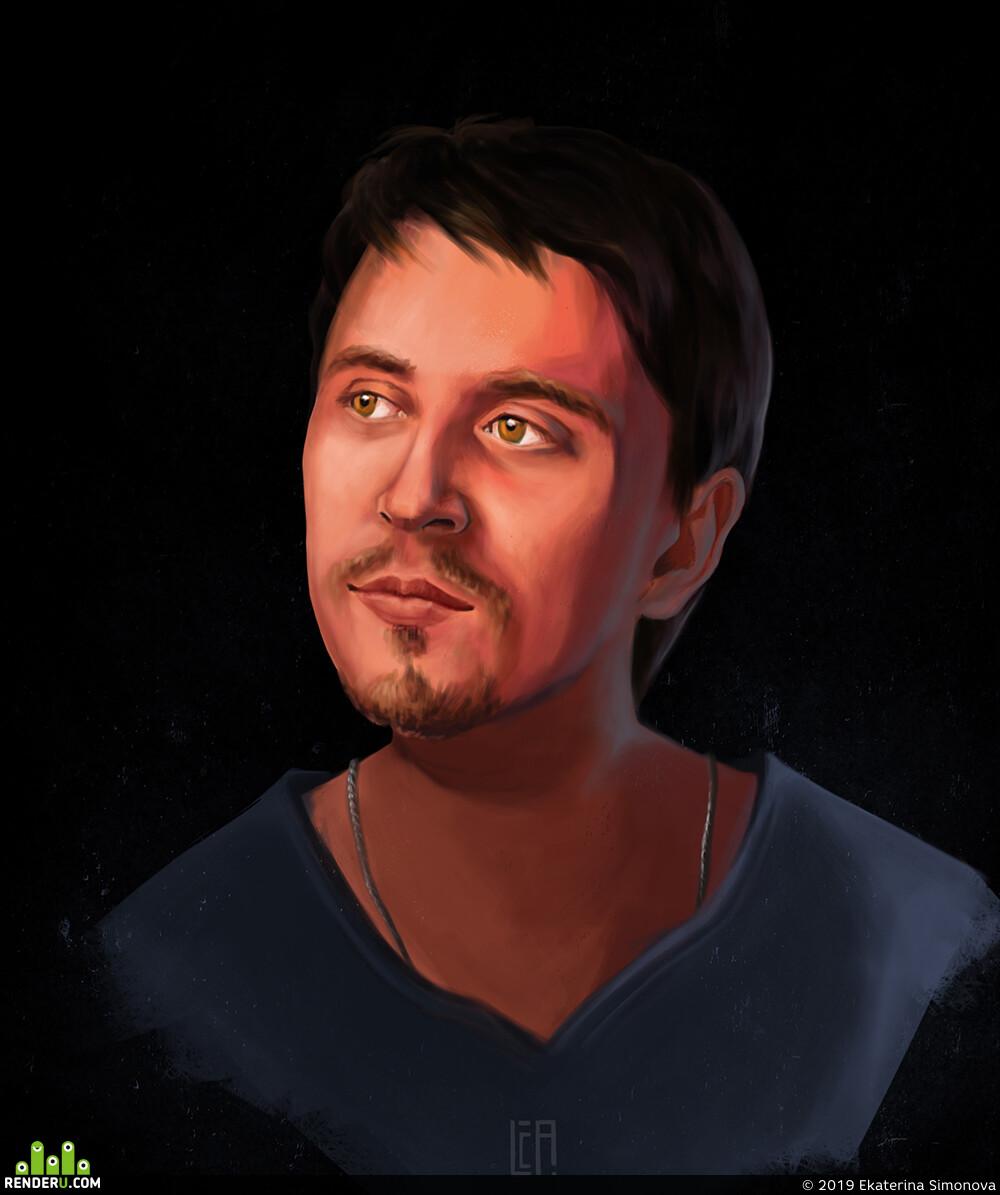 портрет, Иллюстрация