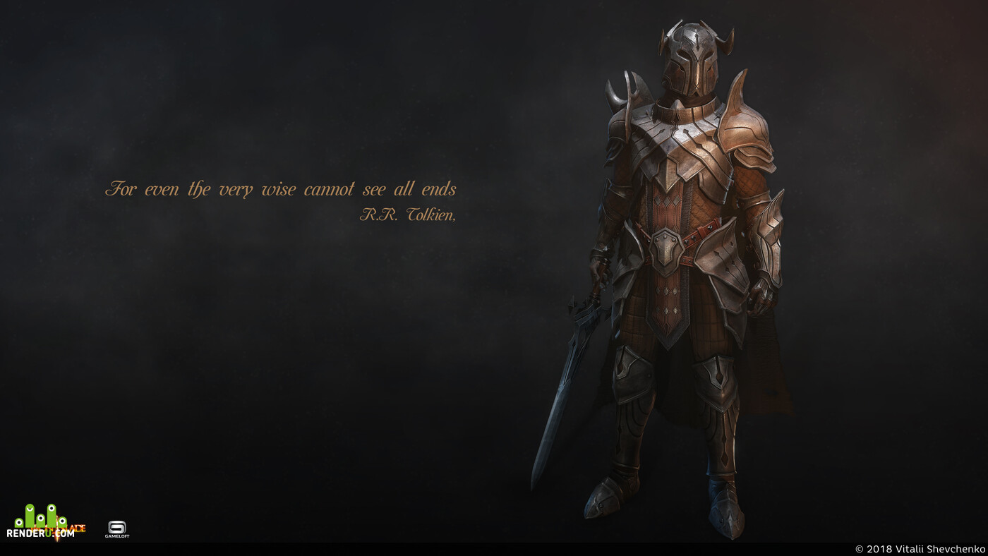 3d character, armor, knight, 3d model, Iron Blade, Gameloft, medieval, human