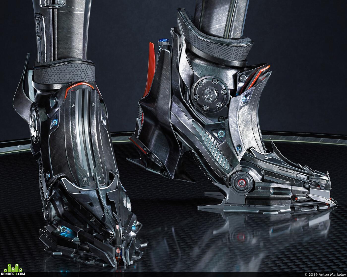 sci fi armor, Science fiction, power armor, Sci-Fi Cyborg Girl, Robots