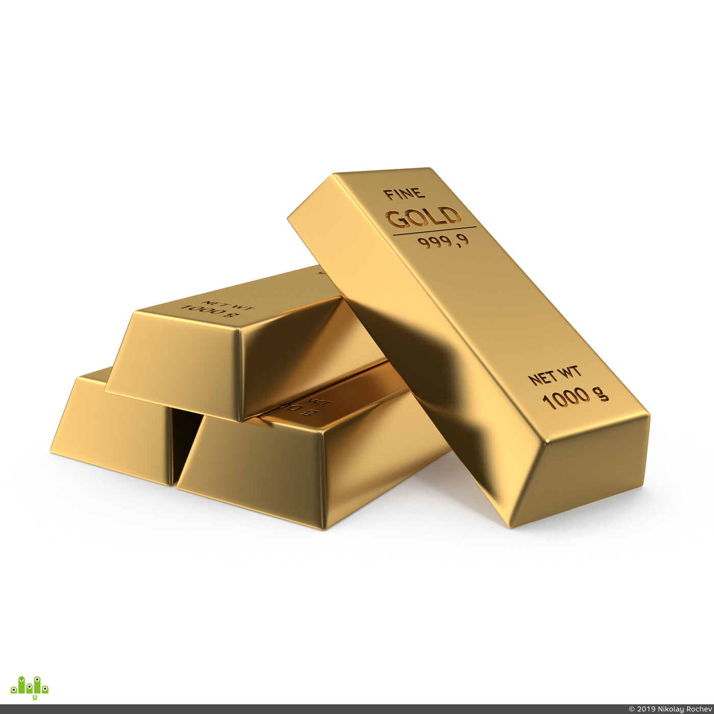 золото, слиток, банка, Модель