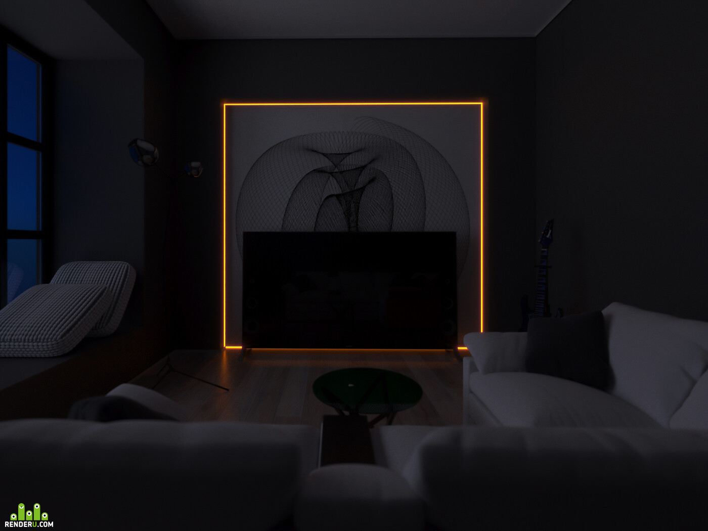 3д визуализация, визуализация, архитектура, интерьер, корона, минимализм, 3дмакс, 3д визуализация интерьера, визуализация интерьера