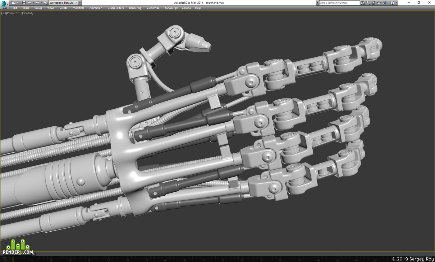 digital 3d, character, mecha, stylized, retro futuristic, sci-fi, cyborg, cyber punk, terminator