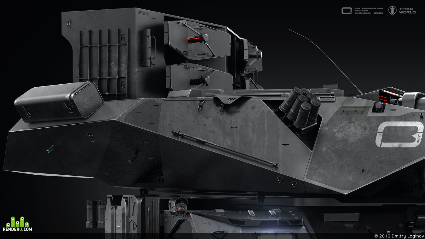 tank, loginov, technologies, 3d, Vray, 3dmax, visualisation, hardsurface, surface, military