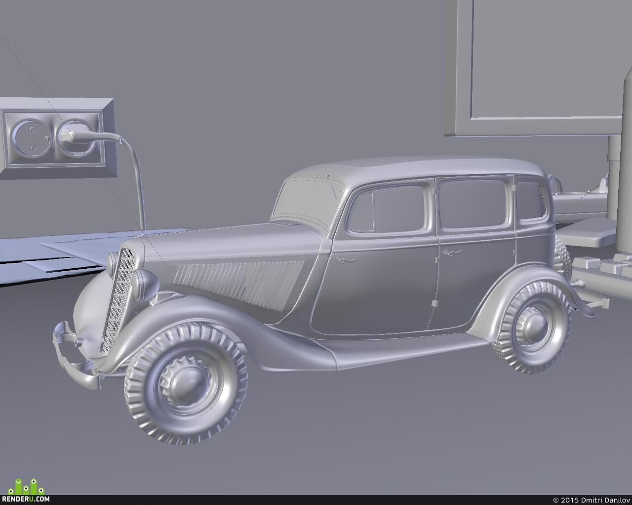 автомобиль, Blender, cycles