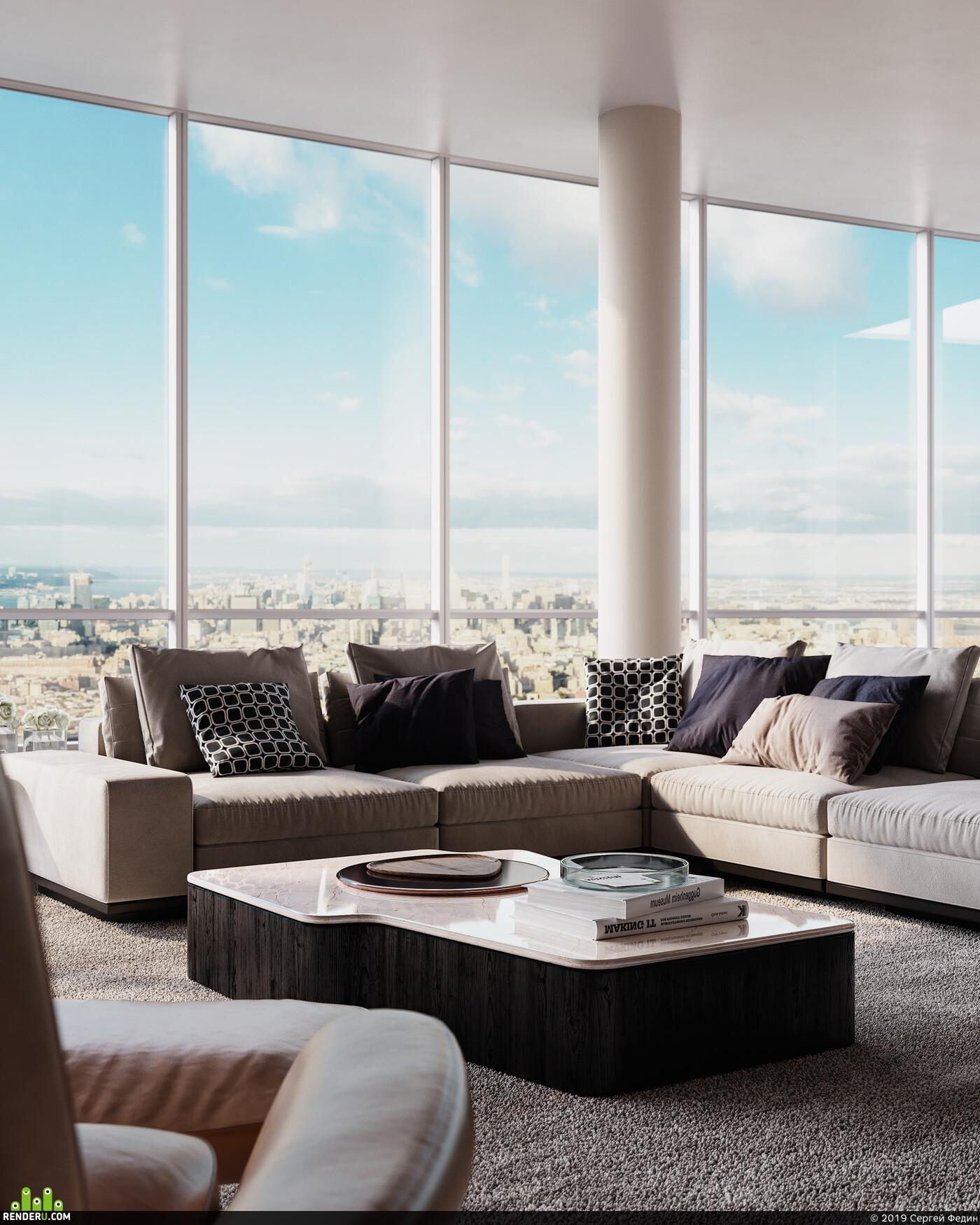 Corona Renderer, interior design, 3D Studio Max