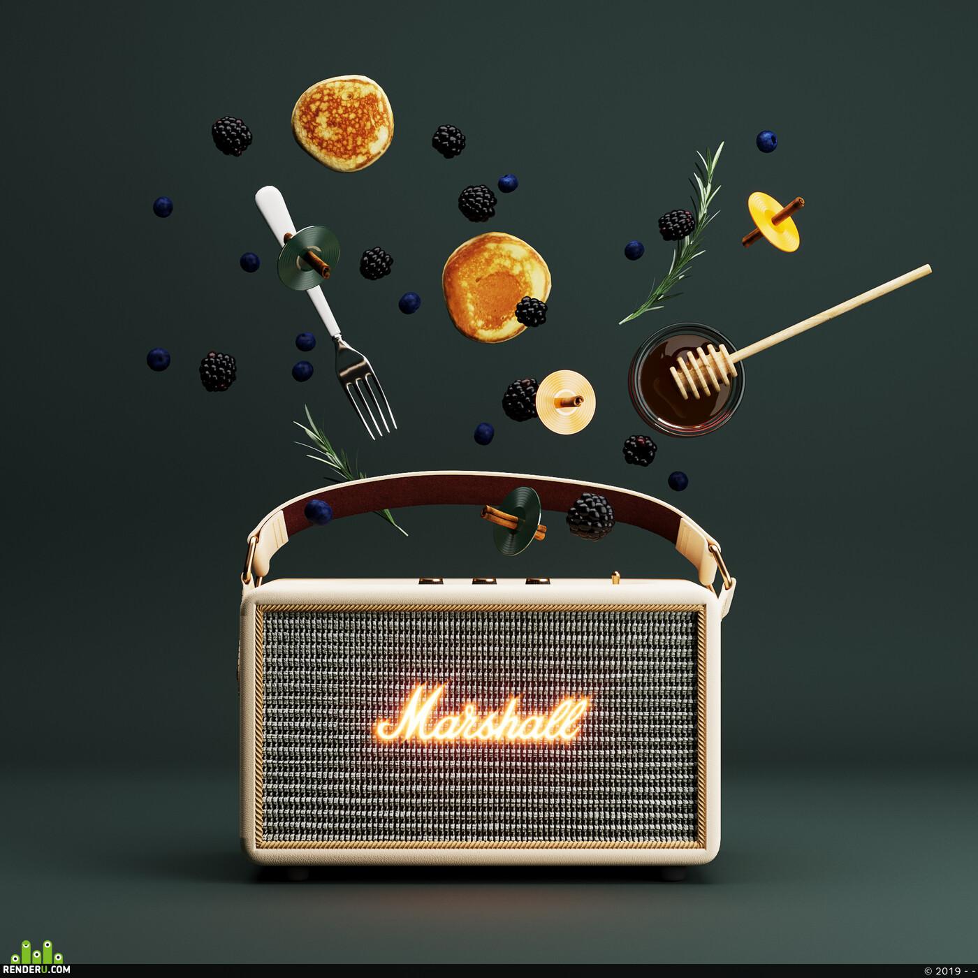 marshall, speaker, productdesign