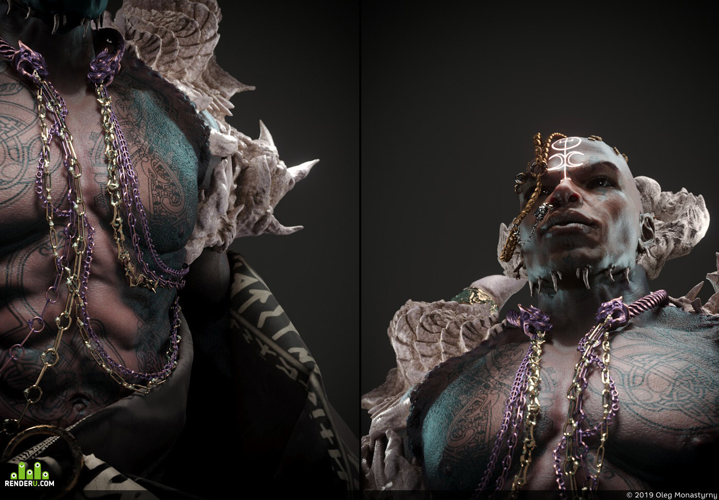 realistic, human, monster concept creature digital 3d Characters, ZBrush, render