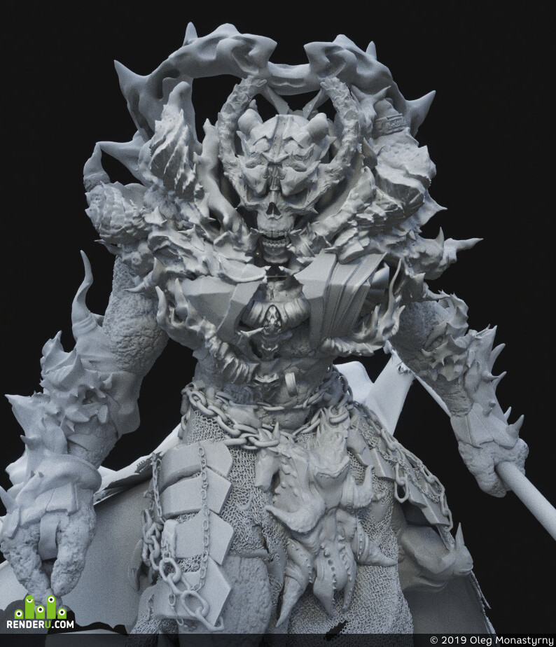 demon, character, ZBrush, Knights