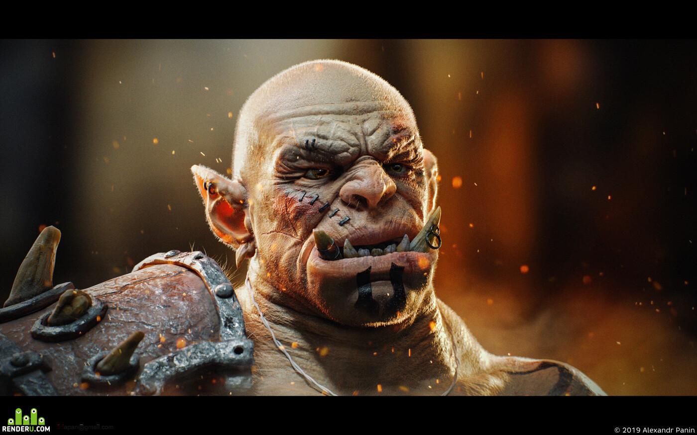 WorldOfWarcraft, creature, King-Warrior, beastman, 3d character