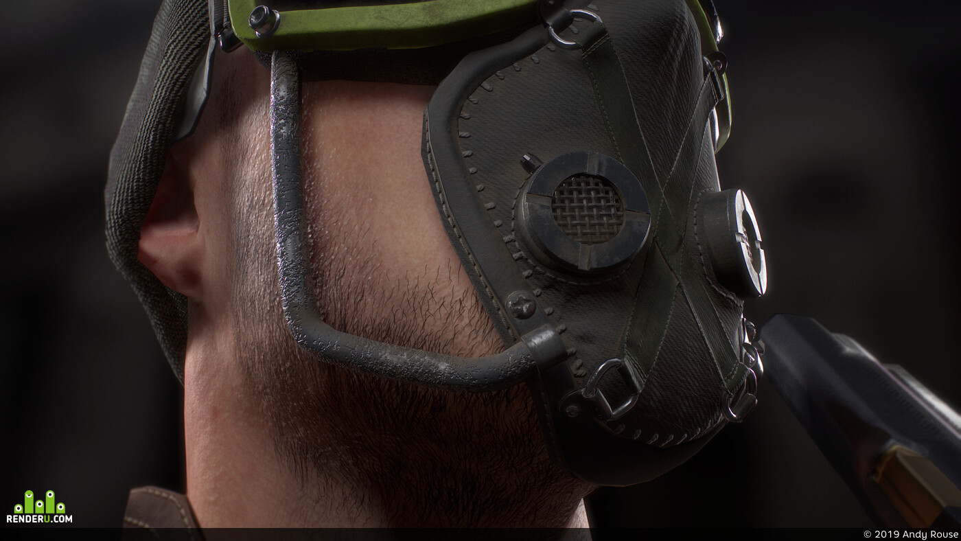 scifi, Mask, gun